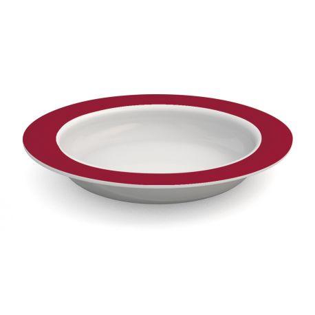 assiette ergonomique mélamine ornamin