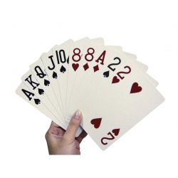 jeu de cartes grandes impressions