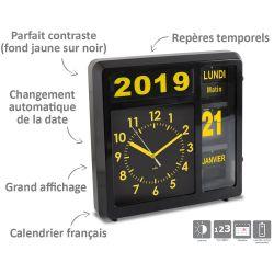 Horloge à date à volets