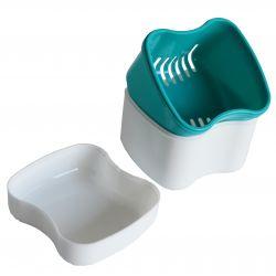 Boîte à dentier avec panier amovible