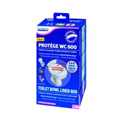 Sac protège cuvette WC hypoallergénique avec tampon absorbant 600ml DR HELEWA ® (x20)