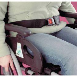 Ceinture de maintien pour fauteuil roulant avec boucle automatique