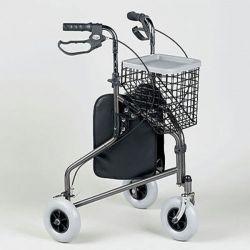 Déambulateur 3 roues en acier avec sac et panier Days