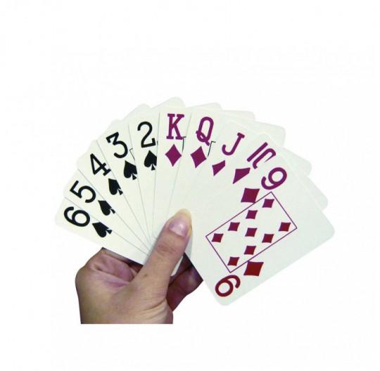 jeux de cartes grandes impressions