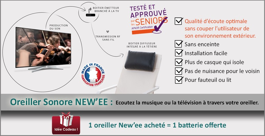 offre promotionnelle-Oreiller Sonore New'EE + batterie